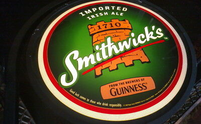 Two Sided GUINNESS SMITHWICK'S BEER Bar Sign Beer Light IRISH PUB