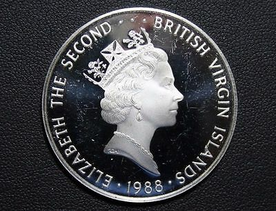 1988 British Virgin Islands (BVI) $25 SILVER proof coin