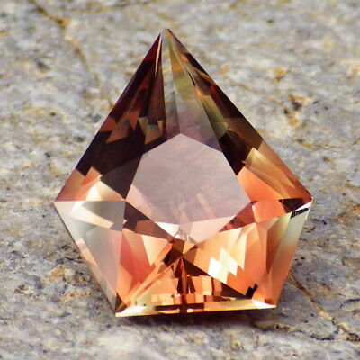 ORANGE-COPPER RED OREGON SUNSTONE 6.67Ct PRECISION FACETING-FOR UNIQUE JEWELRY!