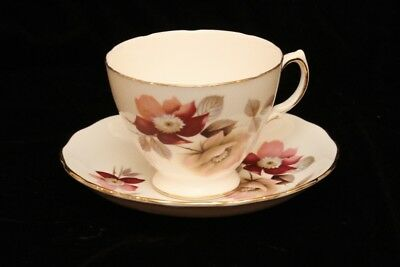 Vintage Royal Vale - Cup and Saucer Set - Pink Clematis Flower - England  - GVC