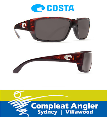 Costa Del Mar Fantail Tortoise 580G Gray Lens Sunglasses BRAND NEW At Compleat A