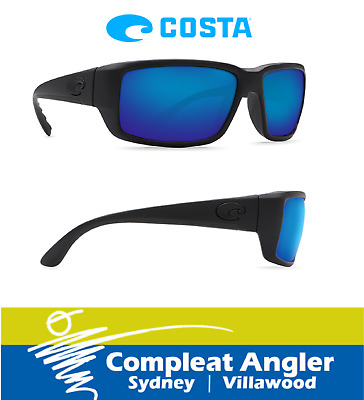 Costa Del Mar Fantail Black 400G Blue Mirror Sunglasses BRAND NEW At Compleat An