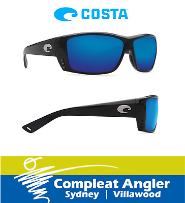 Costa Del Mar Cat Cay Black 580P Blue Mirror Sunglasses BRAND NEW At Compleat An