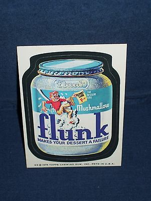 Wacky Pack Flunk Mushmallow Sticker Series Fourteen 1975 White Back