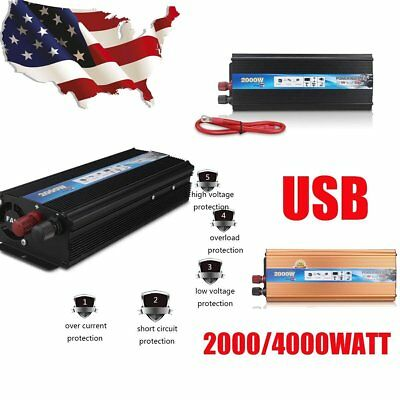 4000W Peak Power DC 12V AC 220V- 240V Car Power Inverter Charger Converter
