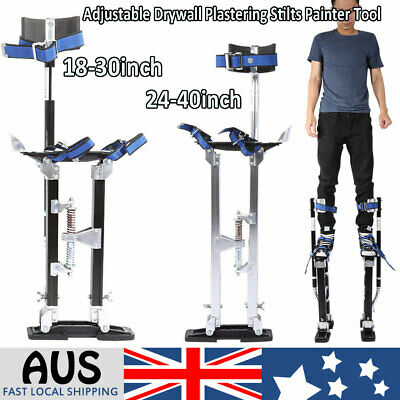 Plastering Stilts 18/24-40Inch Large Size Builders Plaster Drywall Tool Aluminum