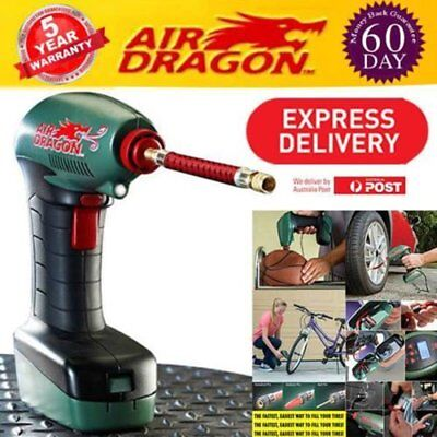 AIR DRAGON Compressor 12V Handheld Portable Digital Car Pump Inflator Tire FA
