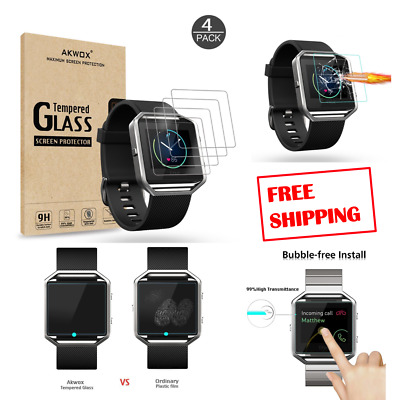 Tempered Glass Fitbit Blaze Screen Protector Smart Watch Premium Real Clear Film