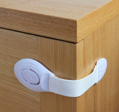 3/5/10/20x Door Drawer Cabinet Cupboard Wardrobe Baby Kids Safety Locks/Latch