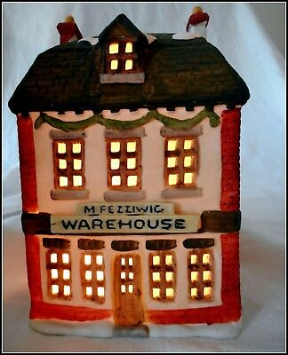 Dept 56 M Fezziwig Wearhouse DICKENS VILLAGE Series A CHRISTMAS CAROL Department