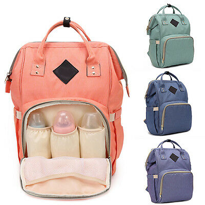 Multifunctional Baby Diaper Nappy Backpack Maternity Large Mummy Changing Bag AU