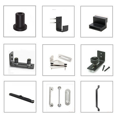 Floor wall guide Lock  handle Spacer Soft Close for sliding barn door hardware