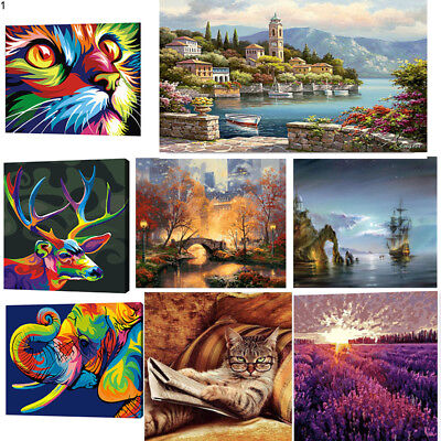 Acrylic Paint By Number Kit Oil Painting Canvas Digital Home Decor DIY 40x50/30