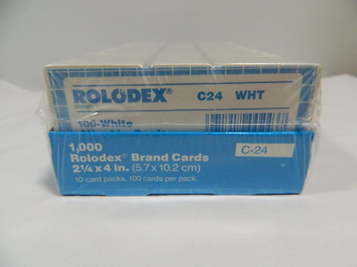 Rolodex Genuine Brand Cards 1000ct. C-24 21/4X4 White File Cards by Rolodex