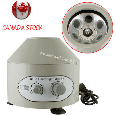 【From CA】110V Electric Centrifuge Machine 4000rpm Lab Medical Practice 20MlX6