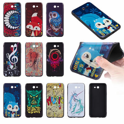 Ultra Thin Flexible TPU Bumper Rubber Soft Back Case Cover for Samsung J7 2017