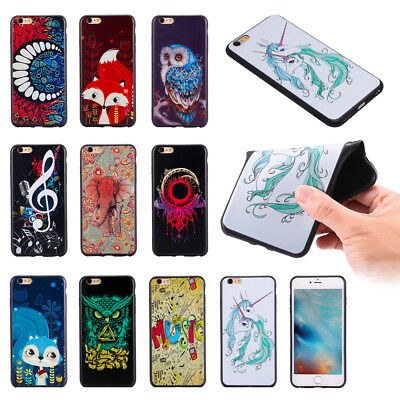 Rubber Flexible TPU Bumper Soft Back Case Cover for iPhone 5 5S SE 6 6S 7 Plus