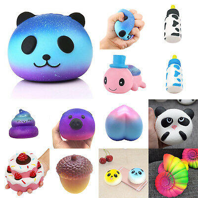 Galaxy Star Jumbo Panda Cream Scented Squishy Slow Rising Squeeze Kid Toy Funny
