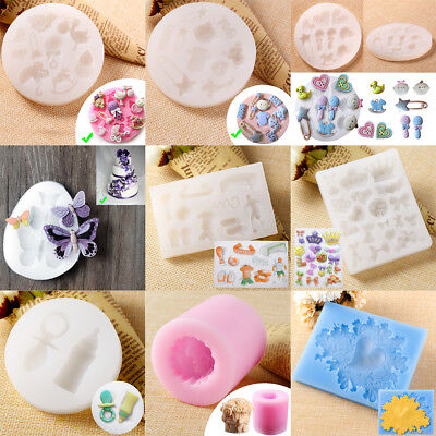 Soap Cake Mould Silicone Handmade Chocolate Candle Mold Cookies Baking DIY Tool