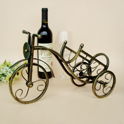 1Pcs Tricycle Shape Red Wine Metal Wine Shelf Retro Rack Holder Hot