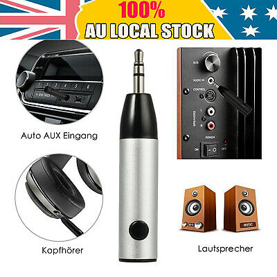 Upgraded 3.5mm Wireless Bluetooth Adapter Handsfree Music Audio Receiver A2DP