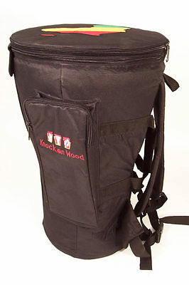 "Premium Djembe Bag with padded straps & waist, for drums up to 14"" head"