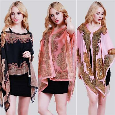 Women's Silk Sunscreen Scarves Floral Shawl Neck Wrap Summer Scarf Scarves BS