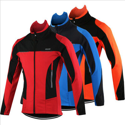 Men Warm Thermal Fleece Waterproof Windproof Cycling Clothing Winter Jacket Coat