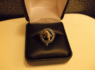 Sterling Silver Dolphin W/ Marcasite  Ring Sz 7