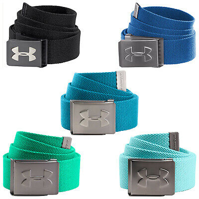 Under Armour Mens Webbing Belt - New Golf Buckle Plain Polyester Casual Web 2017