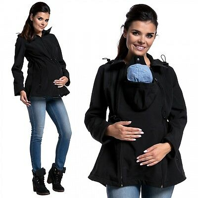 Zeta Ville -Women's Softshell Jacket Maternity Removable Panel Babywearing- 447c