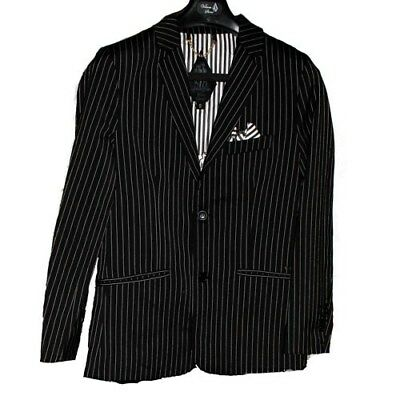 Volcom Men's Dapper Grey Stripe Stone Suit Jacket