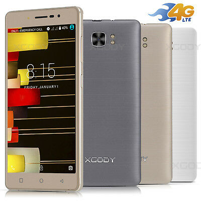 5 Zoll XGODY 4G LTE 3G 2G Handy Ohne Vertrag 16GB 4 Core Android 6.0 Smartphone