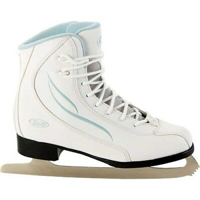 Lake Placid Spirit 500 Kids/Womens Figure Lace Up Ice Skates Shoes White UK2-8