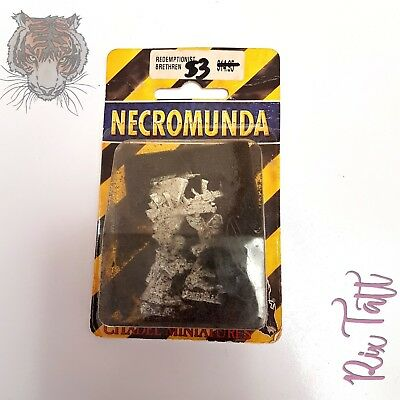 WARHAMMER NECROMUNDA Redemptionist Brethren Blister Pack New Sealed 1997 Vintage