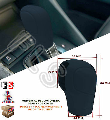 UNIVERSAL AUTOMATIC CAR DSG SHIFT GEAR KNOB COVER PROTECTOR BLACK–Vauxhall 2
