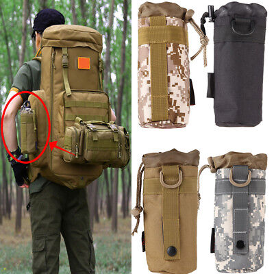 Sport Outdoor Water Bottle Military Tactical Gear Bag Molle Pouch Kettle Pack UK
