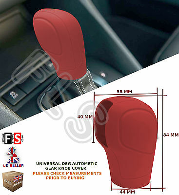UNIVERSAL AUTOMATIC CAR DSG SHIFT GEAR KNOB COVER PROTECTOR RED–Vauxhall 2