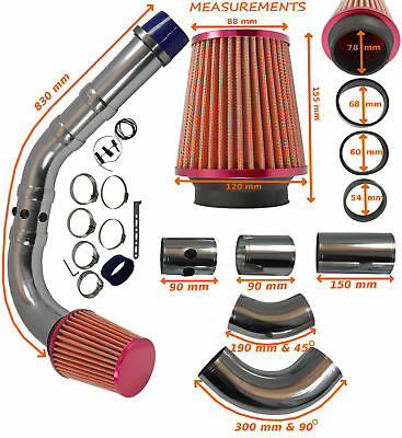 K&N TYPE PERFORMANCE COLD AIR FEED INDUCTION INTAKE KIT 2103007R– Nissan 1