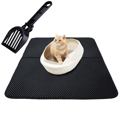 Cat Litter Shovel & Double-layer Waterproof High Elastic EVA Pet Little Cat Mat