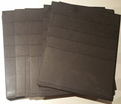 20 x 5 Row Black single sided sheets Only 20c/sheet