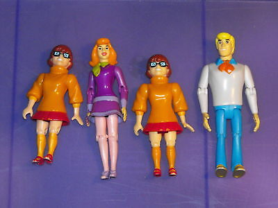 2001 Equity Scooby-Doo Lot of 4 Figures Daphne, Fred & Velma