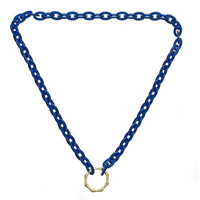 Eyeglass Holder Eyeglass Chains Navy Glasses Holder with Bamboo Look Ring