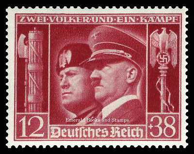 EBS Germany 1941 Hitler-Mussolini Brothers-in-Arms Michel No. 763 MNH**