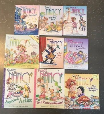 Lot of 9 FANCY NANCY Books by JANE O'CONNOR Easy Reader Thanksgiving Easter
