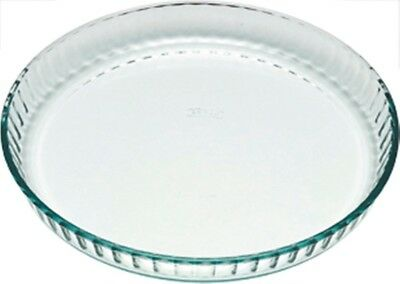Pyrex Glass Quiche / Fluted Flan Dish 24cm