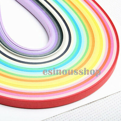 1Pcs 260 Stripes Quilling Paper 3/5/7/10mm Width Mixed Color For DIY Craft