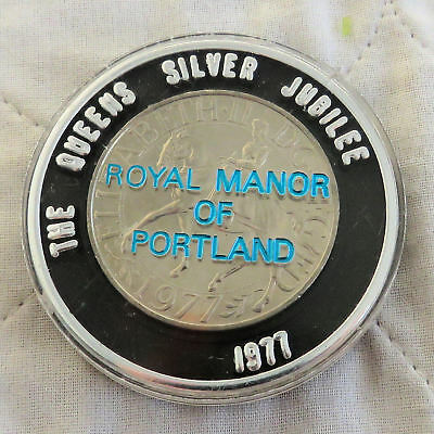 1977 THE QUEENS SILVER JUBILEE CROWN - royal manor of portland