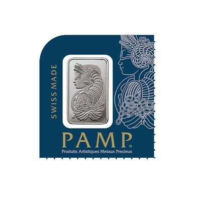 1 gram Platinum Bar PAMP Suisse Lady Fortuna .9999 Fine (In Assay from Multigram
