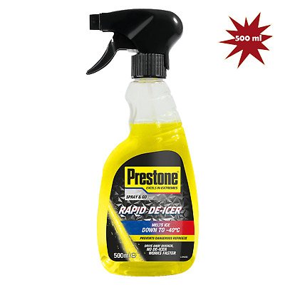 Prestone De-Icer Trigger Melts Ice Down to -40°C 500ml + Ice Scraper